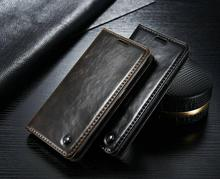 CaseMe Top Genuine Leather Phone Cases for Samsung Galaxy S6/S6Edge/S7/S7Edge Wallet Card Holder Flip Stand Mobile Case bags(China (Mainland))