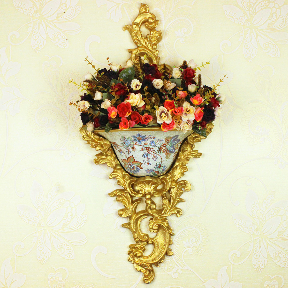Здесь можно купить  Wall vase floral ornaments resin garden wall hangings wall decorations Home New Wholesale  Красота и здоровье