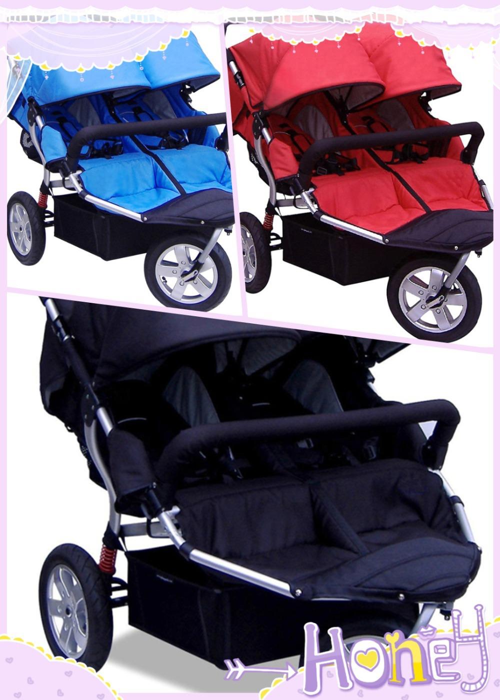 Rotating wheel orientable a double foot brake rear wheels Stroller Twins Car Seat<br><br>Aliexpress