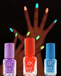 20colors Free Shipping Popular Luminous Nail Polish nail art / Fluorescent nail Enamel 20Pcs/Lot