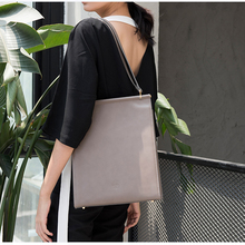 women shoulder bags famous brand high quality imported cowhide women leather handbags black & grey(China (Mainland))