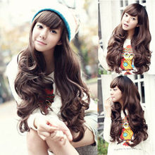Long Wavy Black Brown Cosplay Wigs Synthetic Hair Cheap Wavy Wig Heat Resistant Cheap Wig For Black Women Drag Queen Wigs