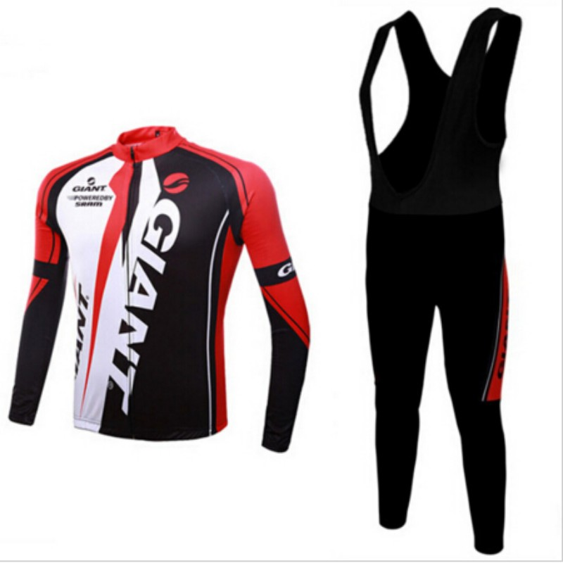 2015 Top Fashion Real Men Ropa Ciclismo Long-sleeve Cycling Jersey Ride Quick-drying Clothes Lycra Clothing Silica Gel Cushion(China (Mainland))