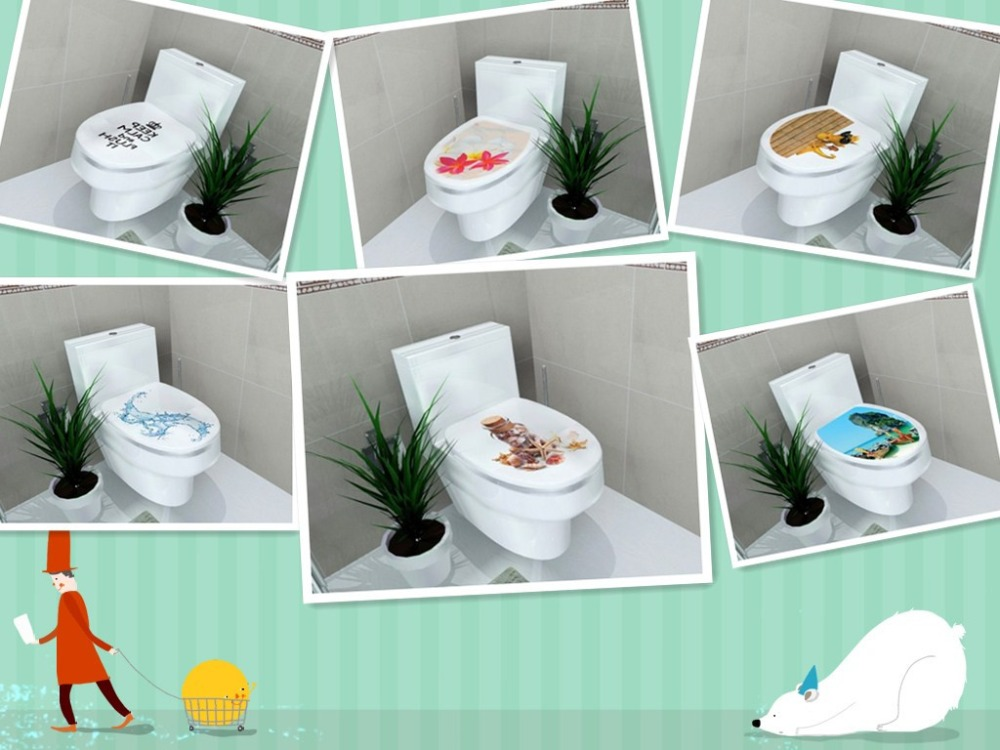 Buy 32 39cm sticker wc pedestal pan cover toilet stool commode home decor bathroon 3d printed - Decor wc ...