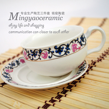 Supply Jingdezhen Ceramic high grade bone china tea sets British gilt red teapot coffee cup and