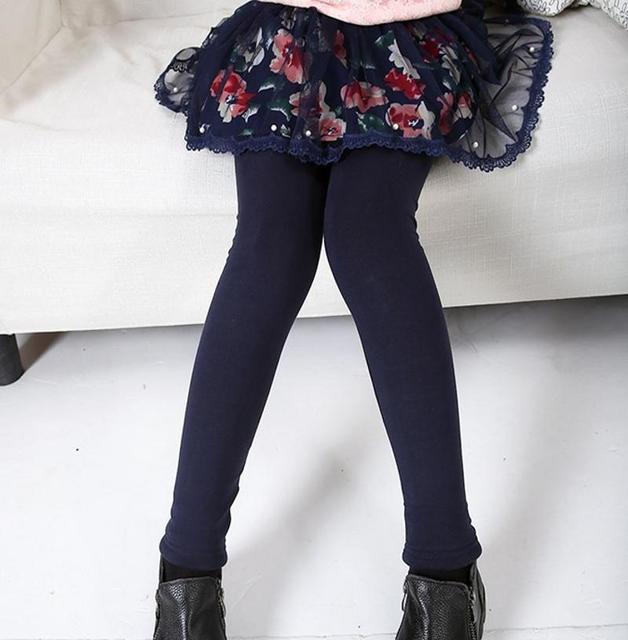 Дети леггинсы юбки девушка меха леггинсы детей цветов брюки девушки кружевные юбка