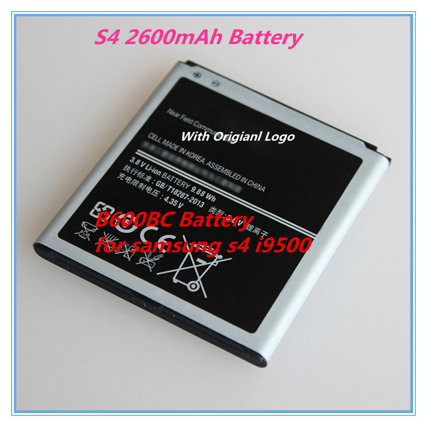 Free Shipping 2600mAh B600BC Battery Cell Phone Battery For Samsung GALAXY S4 B600BC I9500 I9508 I9505 I9507V i545 i337m i337(China (Mainland))