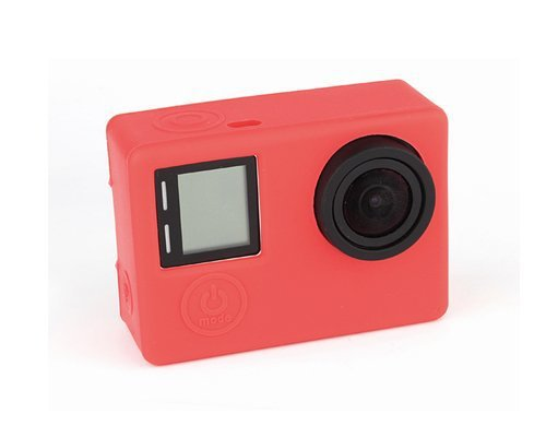 Exclusive Protective Skin Dustproof Silicone Case Gel Housing Soft Rubber Cover for GoPro Hero4 Silver Camera - Red(China (Mainland))
