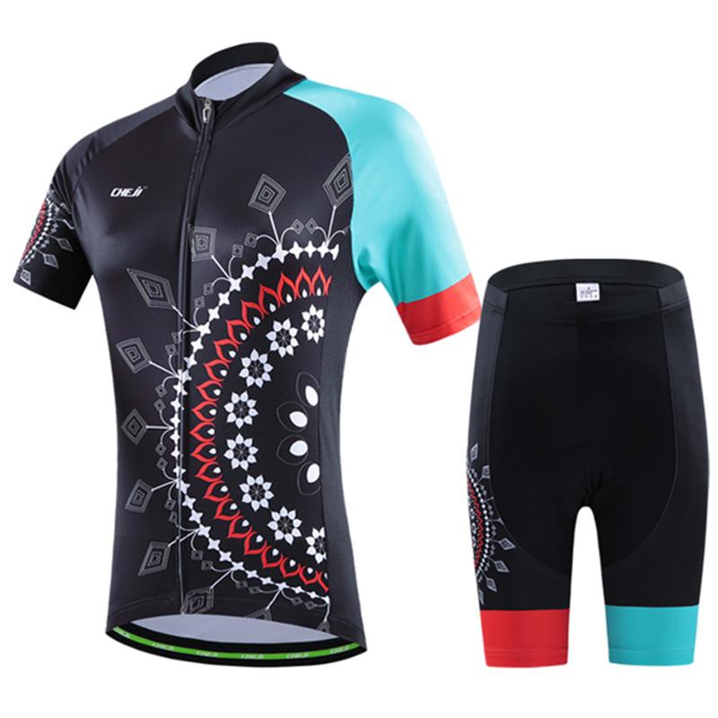 2016 Cheji Mandala woman Cycling Jerseys and Pants Bicycle Set Short Sleeve cycling clothing Mixed Size free shipping<br><br>Aliexpress