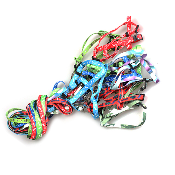 Nylon Large Big Small Pet Dog Puppy Cat Animals Supplies Accessories Products Leash Harness Necklace Rope Tie Collar Lead HB88(China (Mainland))