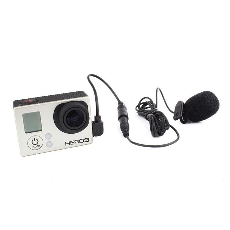 Gopro Hero Camera Stereo Microphone Gopro USB Microphone Professional Microphone For Gopro Hero 3 3+ 4(China (Mainland))
