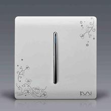 Free Shipping, Kempinski Brand Luxury Wall Switch, 1 Gang 2 Way, Ivory White, Brief Art Weave, Light Switch, AC 110~250V()