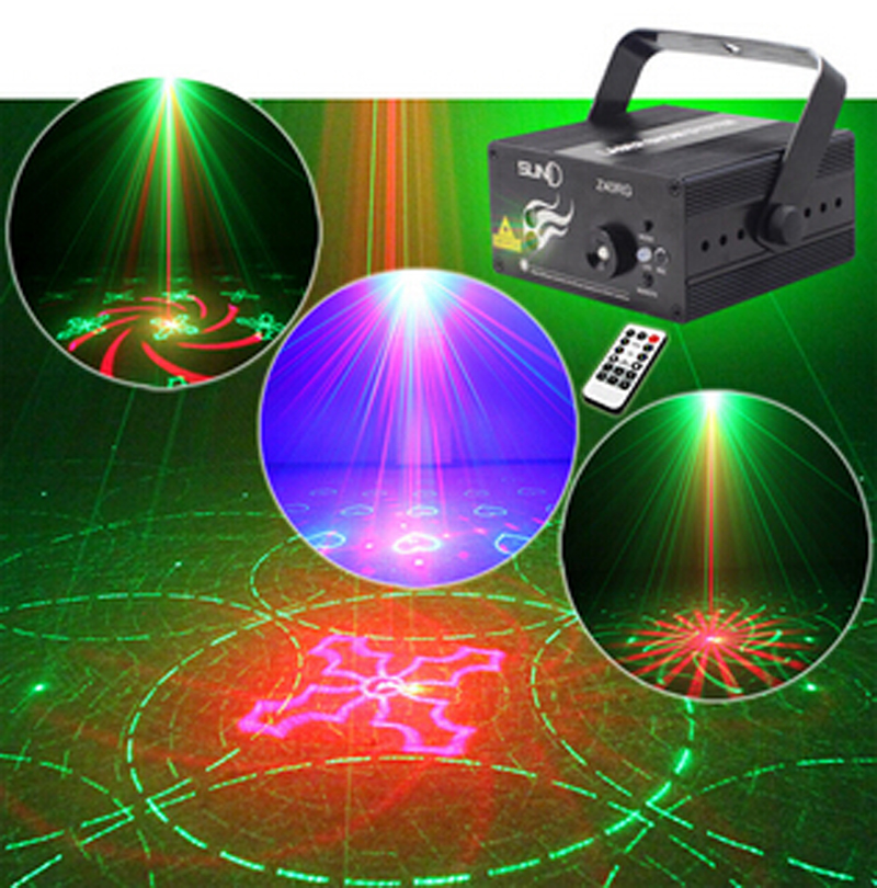 New 3 Lens 40 Patterns Club Xmas RG Laser BLUE LED Stage Lighting DJ Home Party 300mw show Professional Projector Light Disco(China (Mainland))