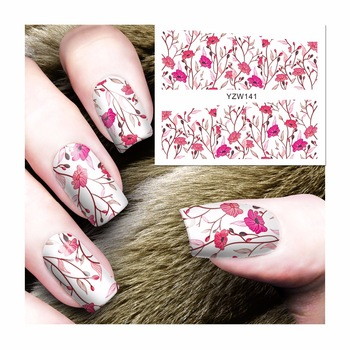 New Fashion Lovely Sweet Water Transfer 3D Grey Cute Cat Nail Art Sticker Full Wraps Manicure Decal DIY 141