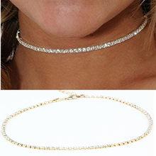 Nova moda na moda gargantilha colar multi camada de cobre de jóias presente para as mulheres Boho Camadas Gargantilhas Coleiras menina x242(China)