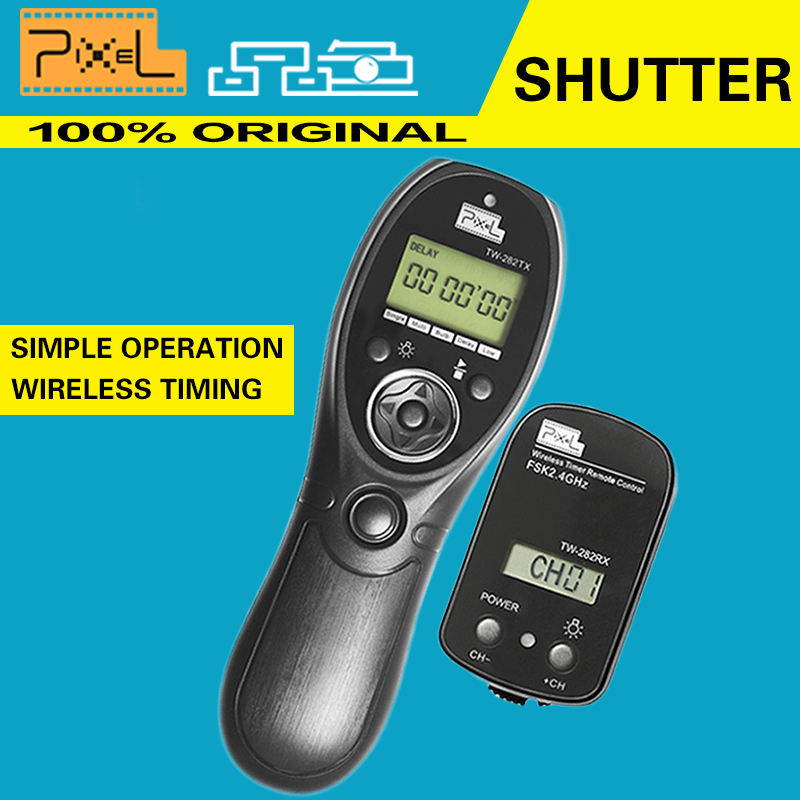 Pixel TW-282 N3 Time Lapse Intervalometer Remote Control Shutter Release Controller Cable for Canon EOS 7D,5D Series,6D,50D,40D(China (Mainland))