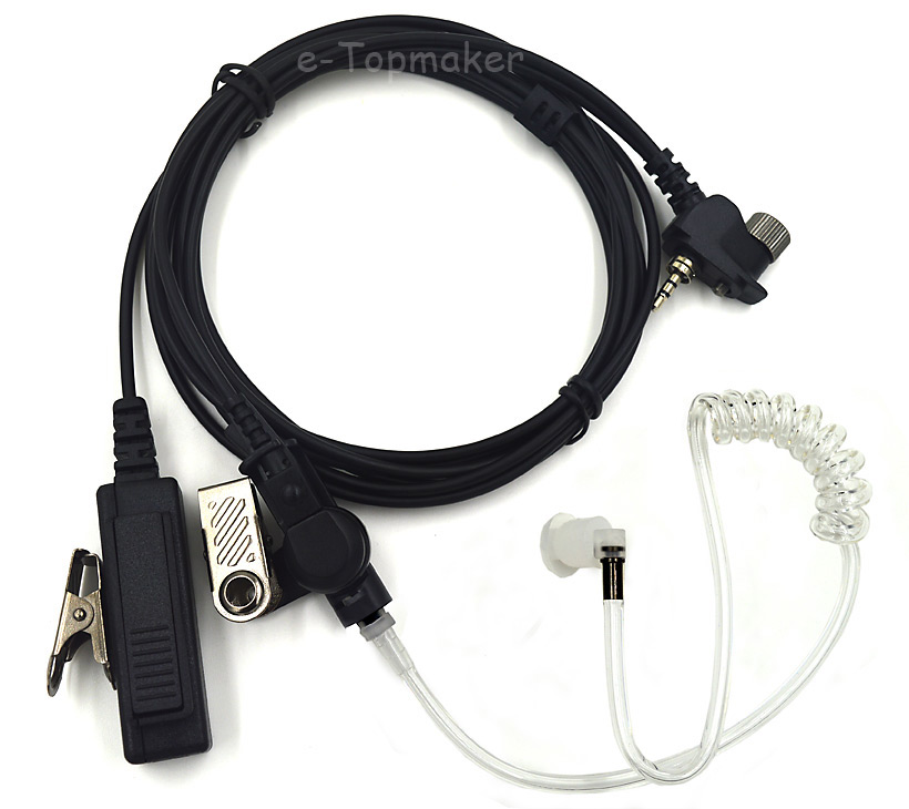 Surveillance Acoustic Air Tube Headset Earpiece PTT for Motorola Tetra MTH800 MTH600 MTH650 MTH850 MTP850 MTS850 Two Way Radio(China (Mainland))