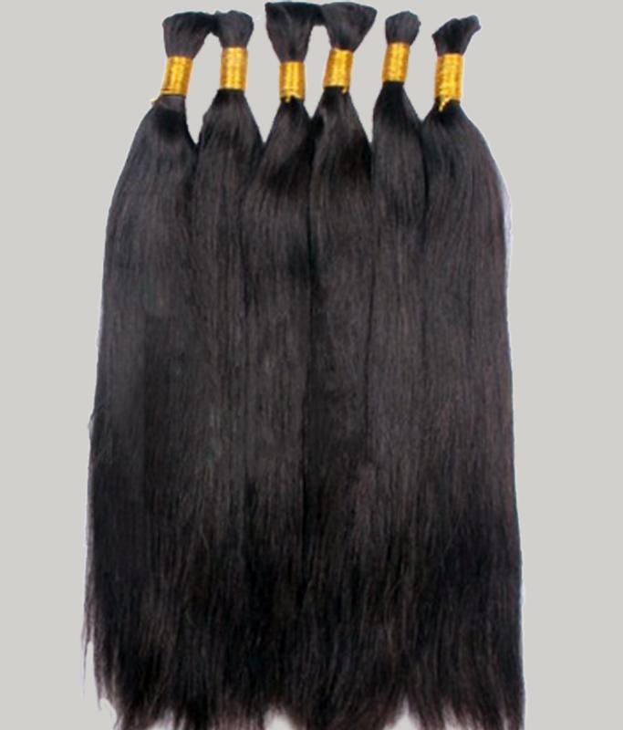 braiding hair human bulk hairmade india 100g 22 inch 24 26 28 30 Inch Natural Color Can Dyed - Yiwu Shengbang Hair store