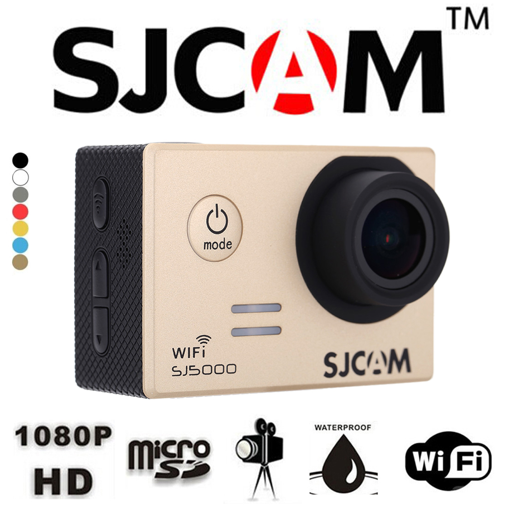 "SJCAM SJ5000 Wifi Mini Action Camera Waterproof Sports DV Camcorder Novatek 96655 14MP 2.0"" LCD HD 1080P 170 Degree Wide Lens(China (Mainland))"