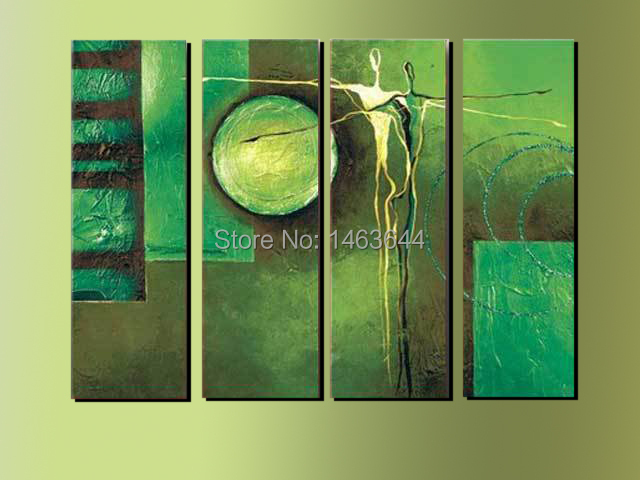 Abstract Dancer Lover Green Landscape 100% Handmade Oil Painting On Canvas Top Quality Wood Framed Wall Picture ABDP208(China (Mainland))
