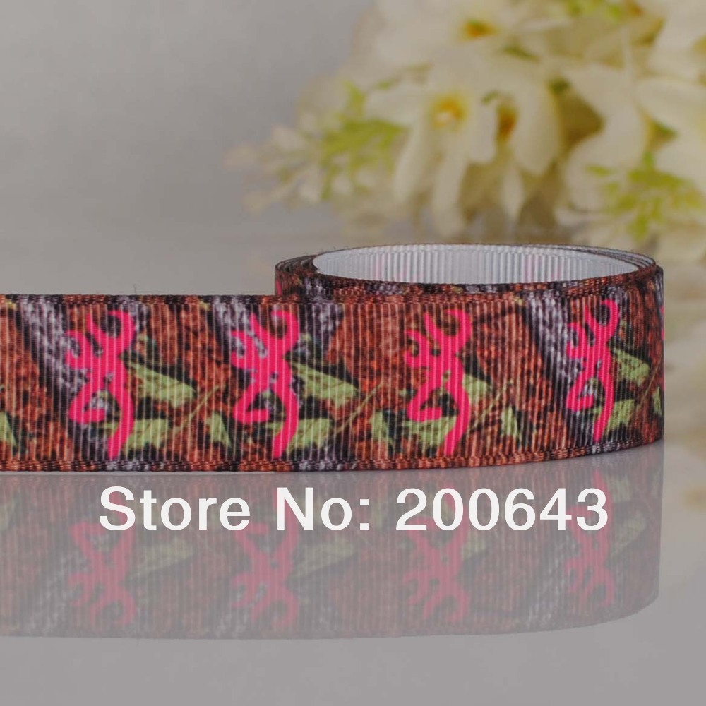 "Free shipping7/8""(22mm)Leaves browning Counrty girl Red LOGO printed Grosgrain ribbon,OEM Country girl gift ribbon 100yards/lot(China (Mainland))"