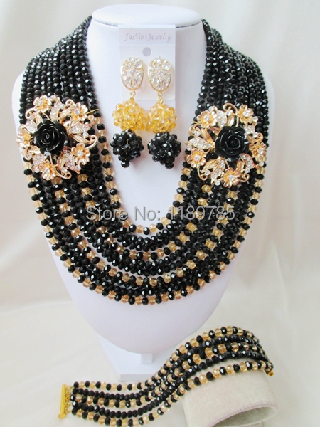 Preferred Special offer Nigerian Crystal Beads Women Fashion Beads Jewelry Set Wedding Bridal Jewelry Set Free Shipping A-12178<br><br>Aliexpress