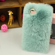 Fashion Soft Hairs Plush Phone cases for apple iphone 4 4s 5 5s phone Cover Fuzzy Fur Hair Back fuzzy Cover Case Hard back cases()