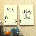 G05 X328 children baby gift Toy 1 12 Dollhouse mini Furniture Miniature rement Ancient paintings 2pcs