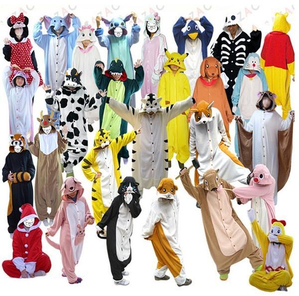 Women Pajamas All in One Pyjama Sets Animal Suits Cosplay Adult Winter Garment Flannel Cute Cartoon Animal Onesies Sleepwears(China (Mainland))