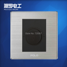 Wholesale POLO Luxury Wall Switch Panel, Light Switch,Dimmer Switch,Champagne/Black,10A,110~250V, 220V(China (Mainland))