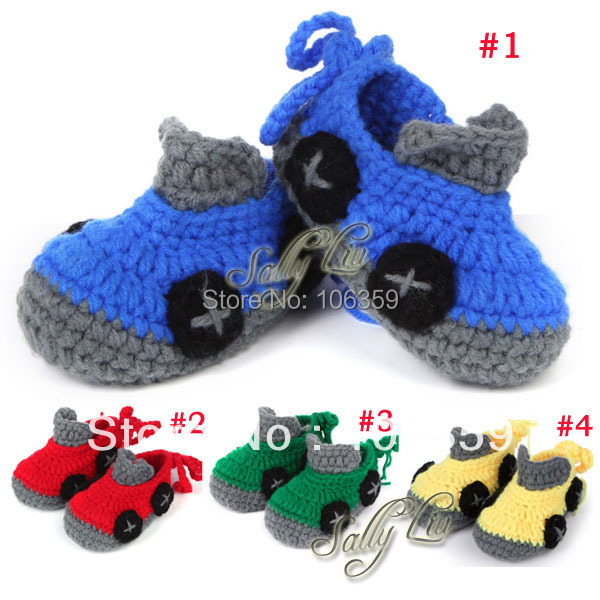 Crochet Pattern Baby Shoes Booties Newborn Infant First Walker Boots Handmade Toddler Slippers Shoe 10 Pairs XZ015(China (Mainland))