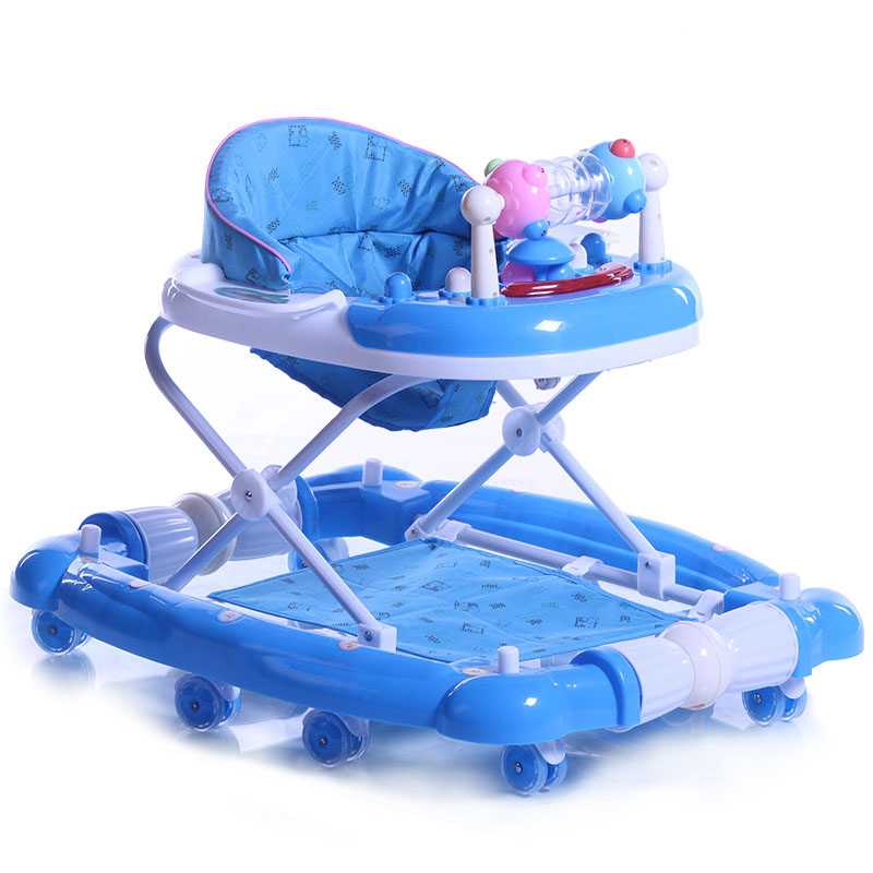 2016 New Style Baby Walker with Wheels Baby Stroller Multifunctional Car Baby Walker Musical Folding Infant Walkers(China (Mainland))