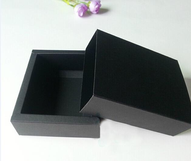 19.5*10.5*4cm black drawer paper box , paper boxes gift box black, home decor gift cardboard boxes(China (Mainland))