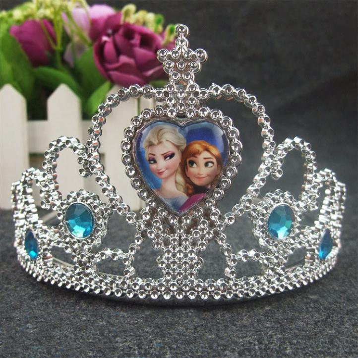 Cartoon Princess Silver Crown Hair Bands Set Birthday Christmas Gifts For Girls Baby Party Lowest Price Headband Accessories(China (Mainland))