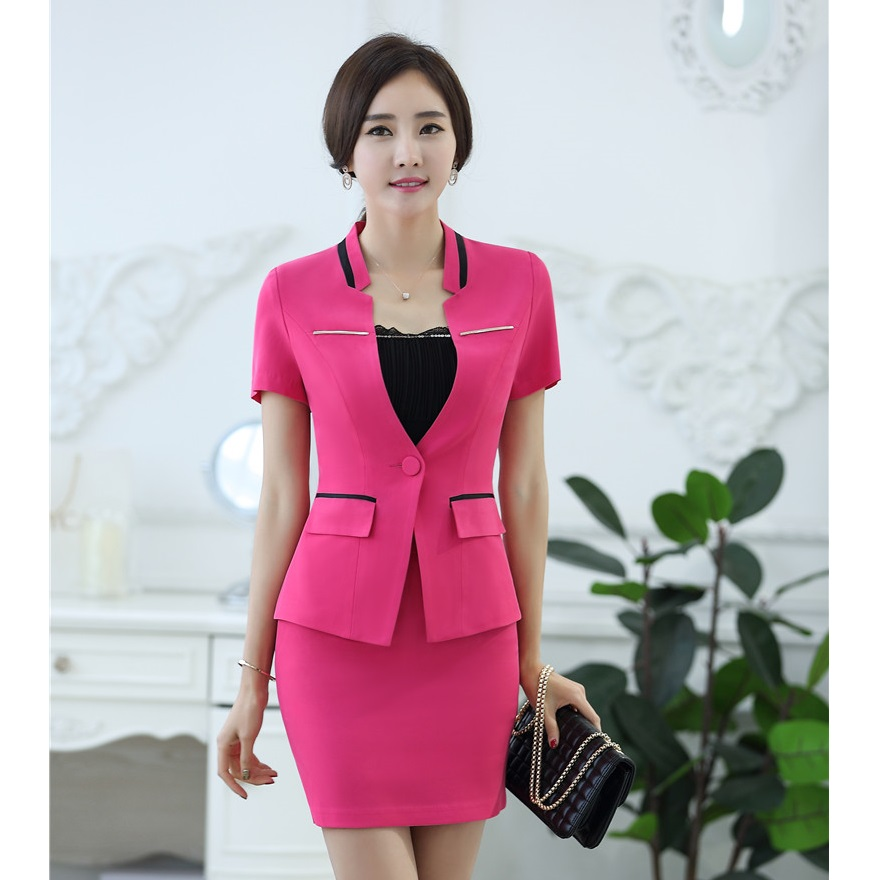 Book of women skirt suits in singapore by olivia for Office uniform design 2016
