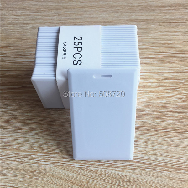 100pcs RFID Thick Clamshell Card 125KHz Writable Rewrite duplicator copier Original T5577 Proximity Access Card(China (Mainland))