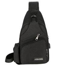 Ombro (Interface de Carga USB) mochila Grande Saco Crossbody Charing 2019 Peito Sling Saco Da Lona Saco de Homens Com Garrafa Bolso Lateral(China)