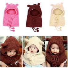 Baby Kid Toddler Winter Warm Hat & Cloak Caps Cape Shawl Rabbit Pattern Wraps(China (Mainland))