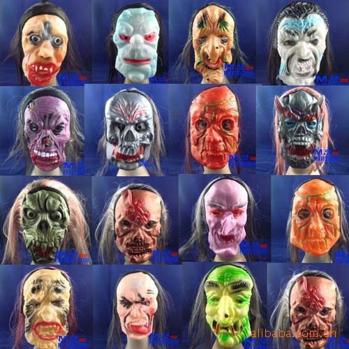 festival club supplies rubber horror scary masks Halloween costume party adult horror props Environmental protection mask(China (Mainland))
