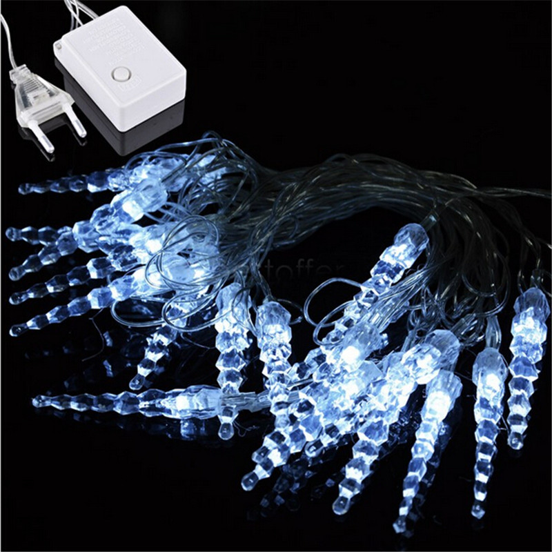 10M 50 LED Icicle String Lights New Year Christmas Xmas Wedding Party Led Fairy Lights(China (Mainland))