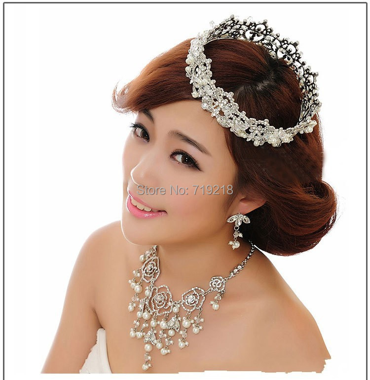 Bridal Crown Round Full Quinceanera Pageant Crowns And Tiaras Crystal Rhinestones Wedding Tiara Hair Jewelry(China (Mainland))