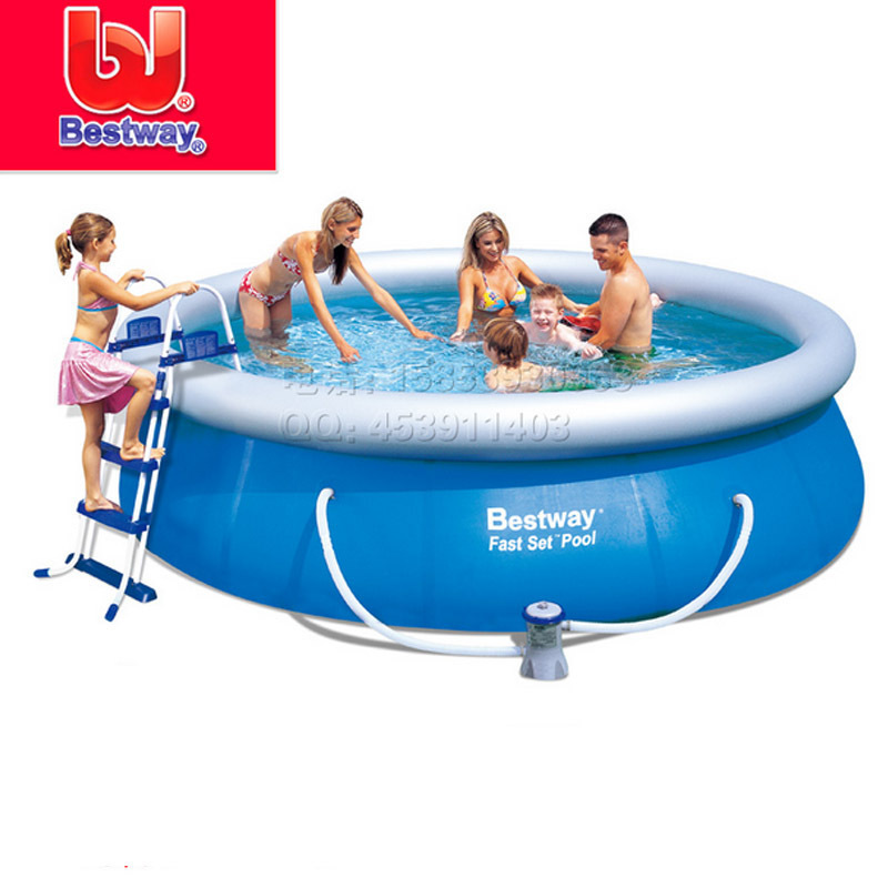 Inflatable swimming pool supply genuine Bestway 57212 disc circular pool 549 * 122cm Family Pool(China (Mainland))