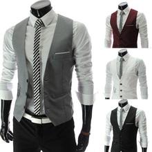 2014 new arrival men suit vest slim dress vests slim Leisure waistcoat formale gentle business jacket size M-XXL PM07