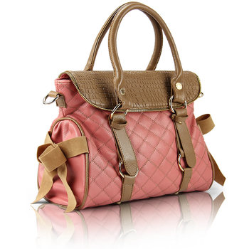 2012 fashion bag female fashion women's handbag bow dimond plaid bag motorcycle bag