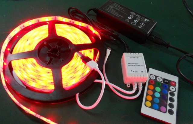 promotion! 5m 5050 30leds/m RGB waterproof led flexible strip(IP65) with controller(24key IR) and power adaptor(12V/4A)