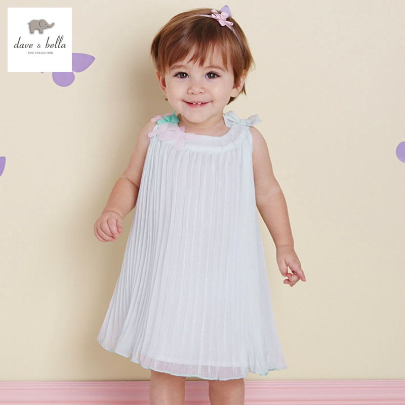 DB1990 dave bella summer baby dress infant clothes girls party dress fairy dress toddle 1 pc kid princess dress lolita cute