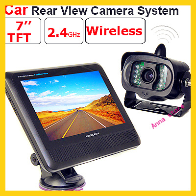 one set 7 inch LCD Car wireless Monitor + wireless Bus/truck CMOS camera with night vision,12V/24V power(China (Mainland))