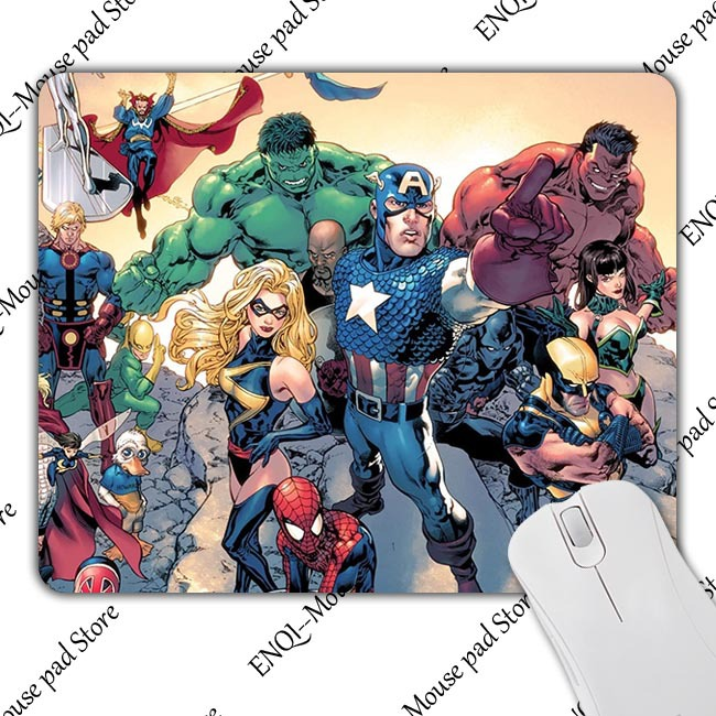 New Maga Marvel univers comic Pattern Desktop Pads Mousepads Optical Black Mouse Mat Mice Pad Durable Original Game Speed Mats<br><br>Aliexpress