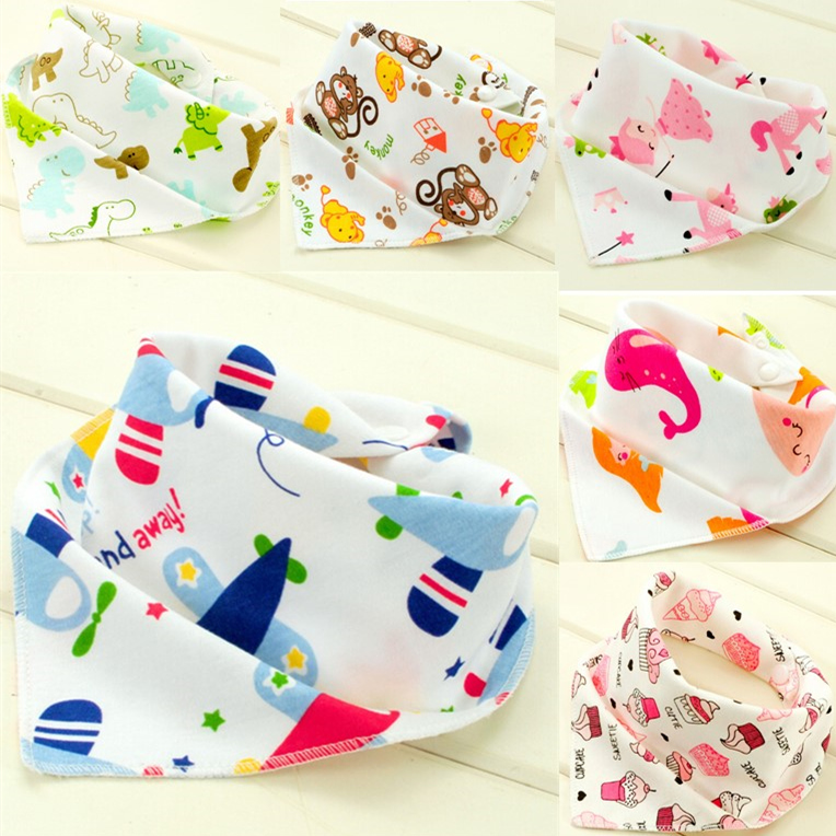 Baby Bandana Bibs Cotton 3pcs For Boy Girl Babies Triangle Kerchief Head Scarf Dribble Bib Toddler Baberos 23 Style Zoo Pattern(China (Mainland))