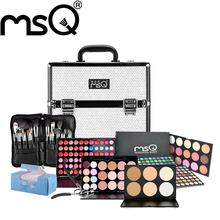 MSQ Brand Pro Fashion Conjunto de maquiagem 8 Kind Of Cosmetics Pruducts Specialty Aluminum Makeup Case makeup Kit Free Shipping(China (Mainland))